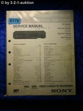 Sony Service Manual SLV 427VC /425VP /UB /CP /AE Video Recorder (#6179)