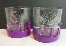 2015 BREEDERS CUP HORSE RACES 2 MAKERS MARK PURPLE WAX DIPPED GLASSES KEENELAND