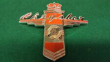 Chrysler 1947 Hood Emblem Stamped & Cloisonne Glass Fired Gold Medallion