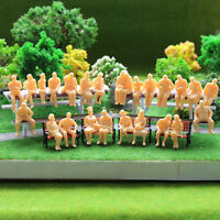 P4806B 50 All Seated  Figures O scale 1:48 Unpainted People Model Railway NEW