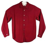 Vtg Levis Red Tab Mens Size Small Denim Jean Metal Button Up Western Shirt Rare