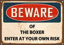 Beware of the Boxer Metal Sign Vintage Home Wall Door Plaque 1187