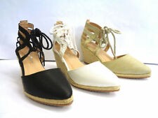 Wedge Lace-up Synthetic Heels for Women