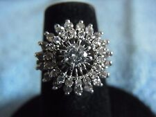 18k White Gold Diamond Pyramid Ring