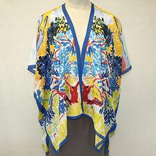NEW NWT Cocoon House Wearable Art Sunnyside 100% Silk Kimono Top Large/XL, 1X 2X