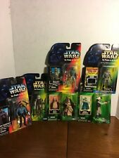 """LOT OF 6 Star Wars Power of the Jedi/Episode 1 NEW  3.75"""" Action Figures"""
