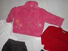 Lotto stock bambina 18/24 mesi giubbotto maglia benetton vestito gonna pantaloni