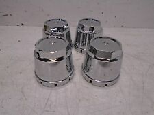 "DOME BULLET WHEEL RIM CHROME CENTER CAPS FITS 2.75"" 2-3/4"" BORE"