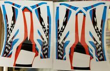 Rtr Cheetah Aeolos chassis decals-Red/Wht/Blue Checker