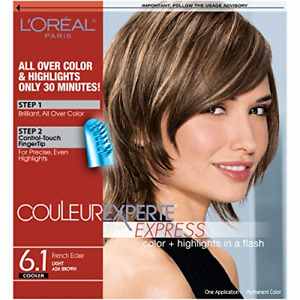 L'Oreal Paris Couleur Experte 2-Step Home Hair Color & Highlights Kit, French