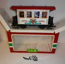 LGB G Scale 'Sensation' Circus Passenger Car #3036 with Passengers
