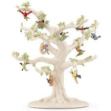 Lenox ~ Set of 10 Ornaments + TREE ~ Garden Birds ~ Cardinal Blue Jay ~ NIB