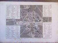 GRAVURE 1839 PARIS PLAN DE LA VILLE SOUS HENRI III AU XVIème SIÈCLE