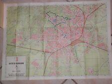 Vecchia pianta cartina della città di BERGAMO Toponomastica monumenti 69x50 cm