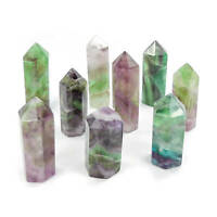 Bulk Wholesale Lot Of 10 Pieces - Fluorite Standing Points Obelisks- Natural