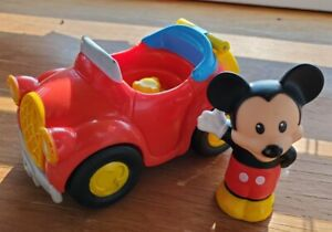 Little People Magic Of Disney Waving MICKEY MOUSE 2014 Red Car Vehicle & Figure