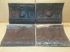 """4pc Lot of 12"""" by 10"""" Antique Ceiling Tin Vintage Reclaimed Salvage Art Craft"""