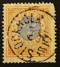 Timbre SUEDE / SWEDEN Stamp - Yvert Tellier n°25 obl (Cyn22)