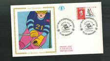 Fdc-1168*France 1990 *La Menuire- Slalom Fdc w Cef Cachet