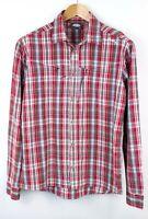 LUNDHAGS Men Bamboo Check Casual Shirt Size M SZ531