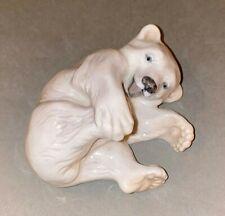 Vintage Royal Copenhagen Denmark Porcelain Figurine Playful Polar Bear Cub #729