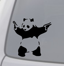 PANDA WITH GUNS Vinyl Decal Sticker Car Window Wall Bumper Macbook BANKSY ART