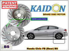 "Honda Civc FB brake disc rotor KAIDON (REAR) type ""RS"" / ""BS"" spec"