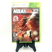NBA 2K12 Michael Jordan Microsoft Xbox 360 Game And Case Very Good Free Shipping