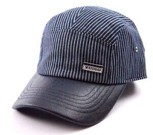 Kangol Indigo Supre Striped 5 Panel Camper Style Cap Hat