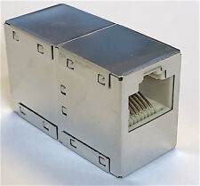 Netzwerk Kabel LAN Verbinder CAT.6 Patch Kupplung 2xRJ45 Buchse geschirmt Metall