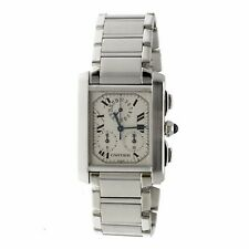 Cartier Tank Francaise 2303 Swiss Quartz Chronograph Stainless Steel Men's Watch