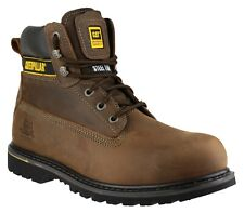 Caterpillar CAT Holton SB brown leather mens steel toe-cap safety work boot