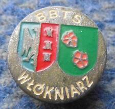WLOKNIARZ BIELSKO BIALA POLAND FOOTBALL SOCCER 1960's RARE SCREW PIN BADGE