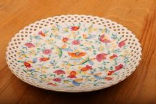"""Decorative Plate With Flowers and Holes Along Rim Pierced Made In Germany 7 1/2"""""""