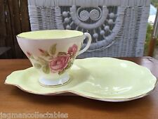 Vintage English Foley China Tea Cup & Tennis Saucer Pink Rose