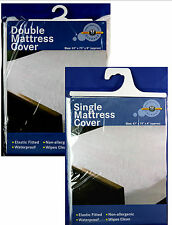 New MATTRESS PROTECTOR COVERS Waterproof Plastic Sheet Single  Double