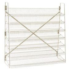 "Wire Candy Snack Rack, 7 Tier, 48"" Wide, Beige, Free Stand or Mount"