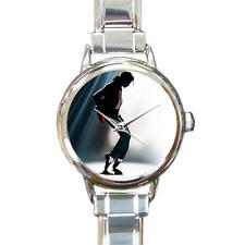 Michael Jackson Reloj caminata de la Luna pulsera con dijes reloj de encanto italiano italiano