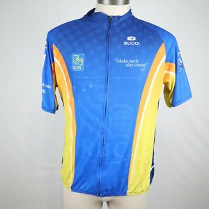 Sugoi Men's Multicolored Enridge Ride to Conquer Cancer Cycling Shirt Size 2XL