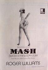 ROGER WILLIAMS 1970 Poster Ad THE SONG FROM M*A*S*H suicide is painless MASH