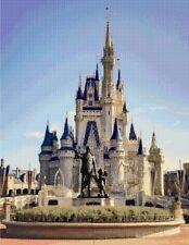 Walt Disney & Castle Counted Cross Stitch Kit Disney Film character/Place 18ct