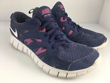 Nike Free Run 2 (GS) Size 6 Youth Kids Girls Purple Running Shoes