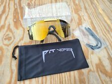 Authentic Pit Viper The Gold Standard Double Wide Polarized Sunglasses