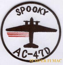 "AC-47 SPOOKY GUNSHIP VIETNAM PATCH AFB DC-3 US AIR FORCE ""Puff the Magic Dragon"""