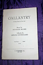 Vintage GALLANTRY - A SOAP OPERA IN ONE ACT BY MOORE & SUNDGAARD -1958