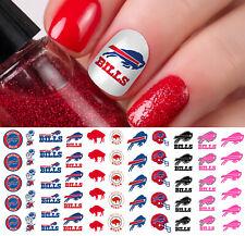 Buffalo Bills Football Nail Art Decals - Nail Salon Quality!
