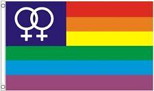Lesbian Rainbow LGBTQ+ Gay Pride Venus 5'x3' Flag - LAST FEW