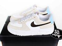 Nike Air Force 1 Pixel Desert Sand Beige White Blue UK 3 4 5 6 7 8 9 US New