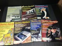 Vintage STEREO REVIEW MAGAZINES COLLECTION 1983 Lot of Issues