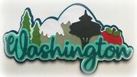 WASHINGTON STATE TITLE PAPER PIECING PREMADE 3D DIE CUT MY TEAR BEARS KIRA
